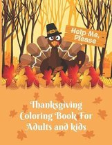 Thanksgiving Coloring Book For Adults and kids