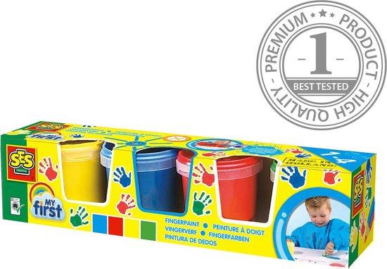 SES My first vingerverf - Hobbyverf - 4 kleuren - Diverse kleuren