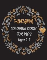 Thanksgiving Coloring Book For Kids Age 2-5