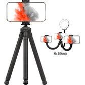 TENTA® Modulair flexibel statief - Selfie stick - Monopod - Vlog statief - Met bluetooth afstandsbediening