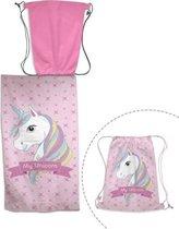 unicorn strandlaken zwemzak
