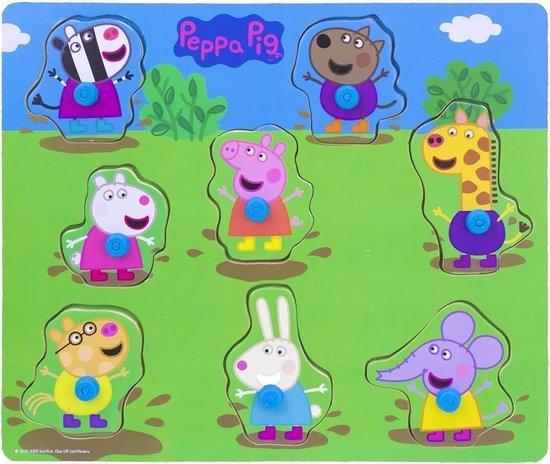 Peppa Pig houten knopjespuzzel