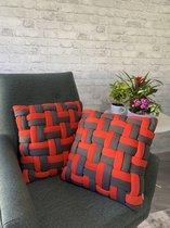 Youniq, 2 STUKS Decoratieve Sierkussen, 45x45 cm, Kussens Woonkamer, Binnen...