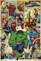 Marvel superhelden poster comic heroes Thor-Hulk-Spiderman 61x91.5cm