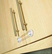 Kinderslot kastjes - Kinderbeveiliging voor keukenkastjes - Kinderbeveiliging voor lades - Transparant