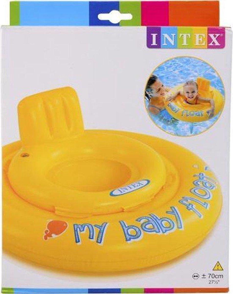 Intex Zwemband Baby Float Geel - 70cm - tot 11 kilogram-6-12 maanden