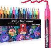 Afbeelding van Mobee - Premium Acryl Verfstiften - Medium - 2 mm - 20 Kleuren - Waterbasis