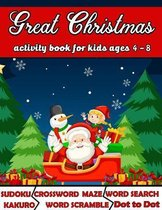 Great Christmas Activity Book for Kids Ages 4-8