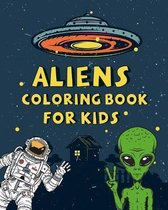 Aliens Coloring Book For kids