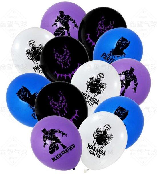 Black Panther Ballonnen - 12 Stuks - Marvel Avengers - Wakanda Forever - Latex Ballonnen