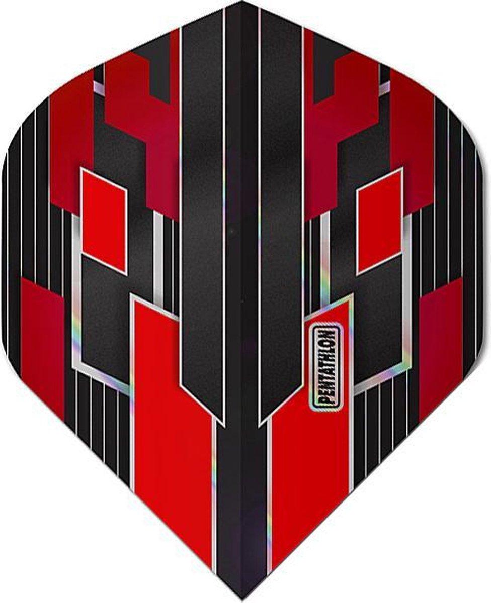 ABC Darts - Pentathlon Dart Flights Shimmers - Rood - 5 sets