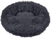 Springos Hondenmand | Superzacht en Luxe | Wasbaar | Donut | Fluffy | Hondenkussen | 70 cm | Grijs