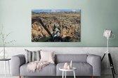 Canvas Schilderijen - Rotsen bij de Afrikaanse Leiderschapspoort - 180x120 cm - Wanddecoratie XXL /