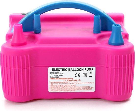 PartyPro - Elektrische Ballonnenpomp met Dubbele Vulfunctie - Ballonpomp - Decoratie & Feest Versiering - Ballonnenboog