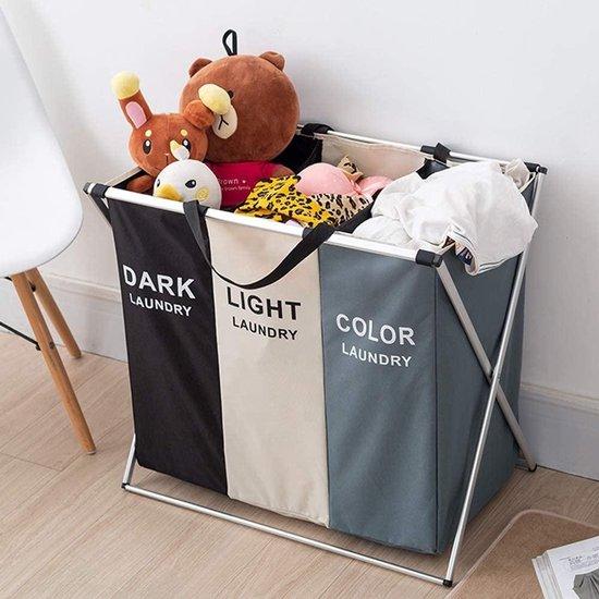 Roytje - Wasmand - Wassorteerder - Wasmanden - Wasmand 3 vakken - Opvouwbaar - Wasbox - Laundry Basket