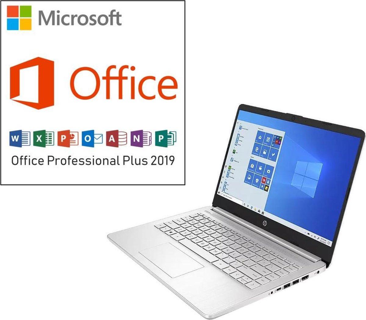 HP 14 inch Laptop - AMD Ryzen 3 - Zilver - 4GB RAM - 128GB SSD - Tijdelijke actie: €549,99 >> €499,99 & incl. Office Professional! (verloopt niet, geen abonnement)