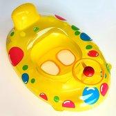 Jobber Toys Baby Float Deluxe - Zwemband rubber Boot - ORANJE/GEEL