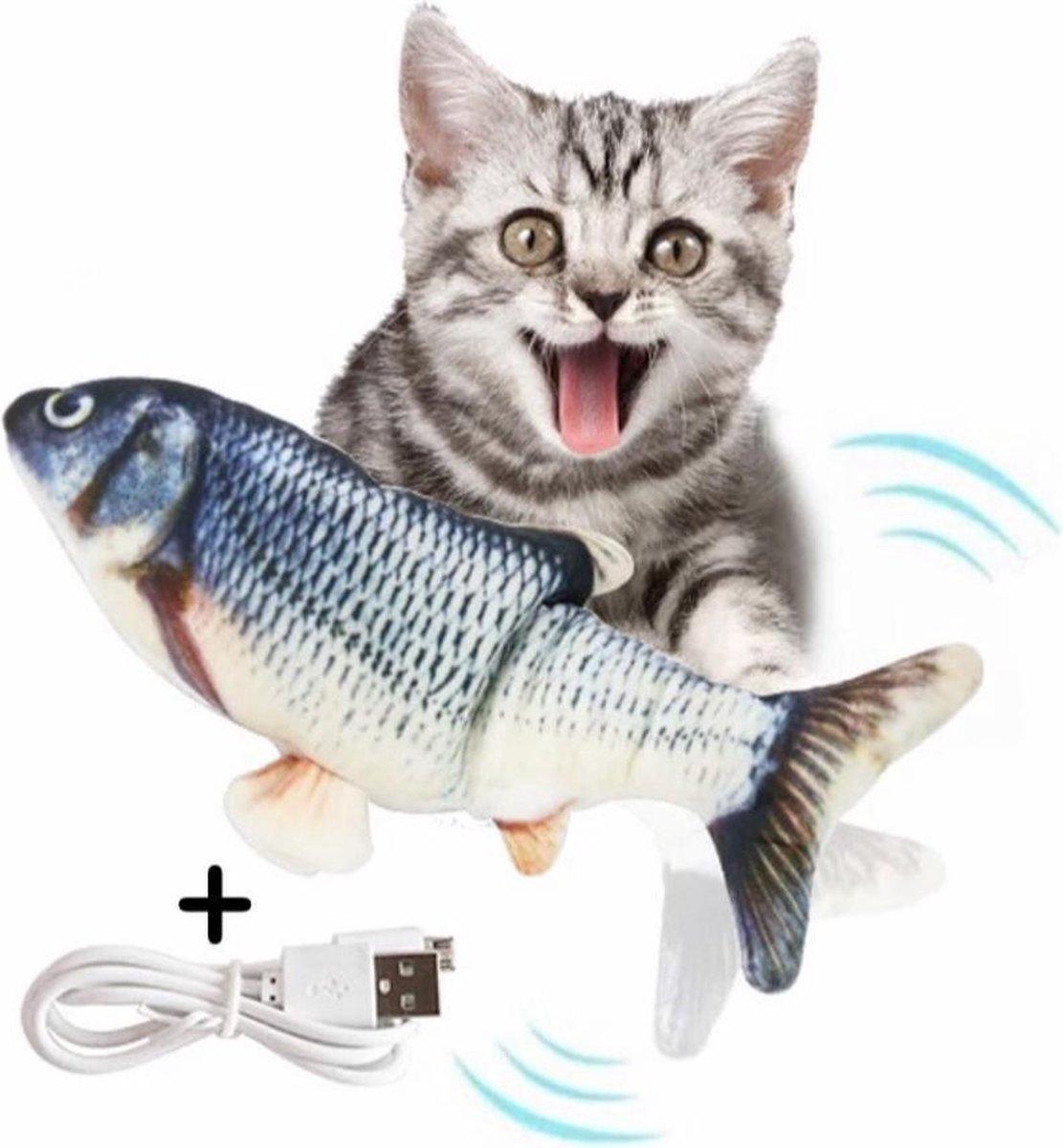Kattenspeeltjes – Bewegende Vis met Catnip Kattenkruid – Kattenspeelgoed Intelligentie – Speelgoed K