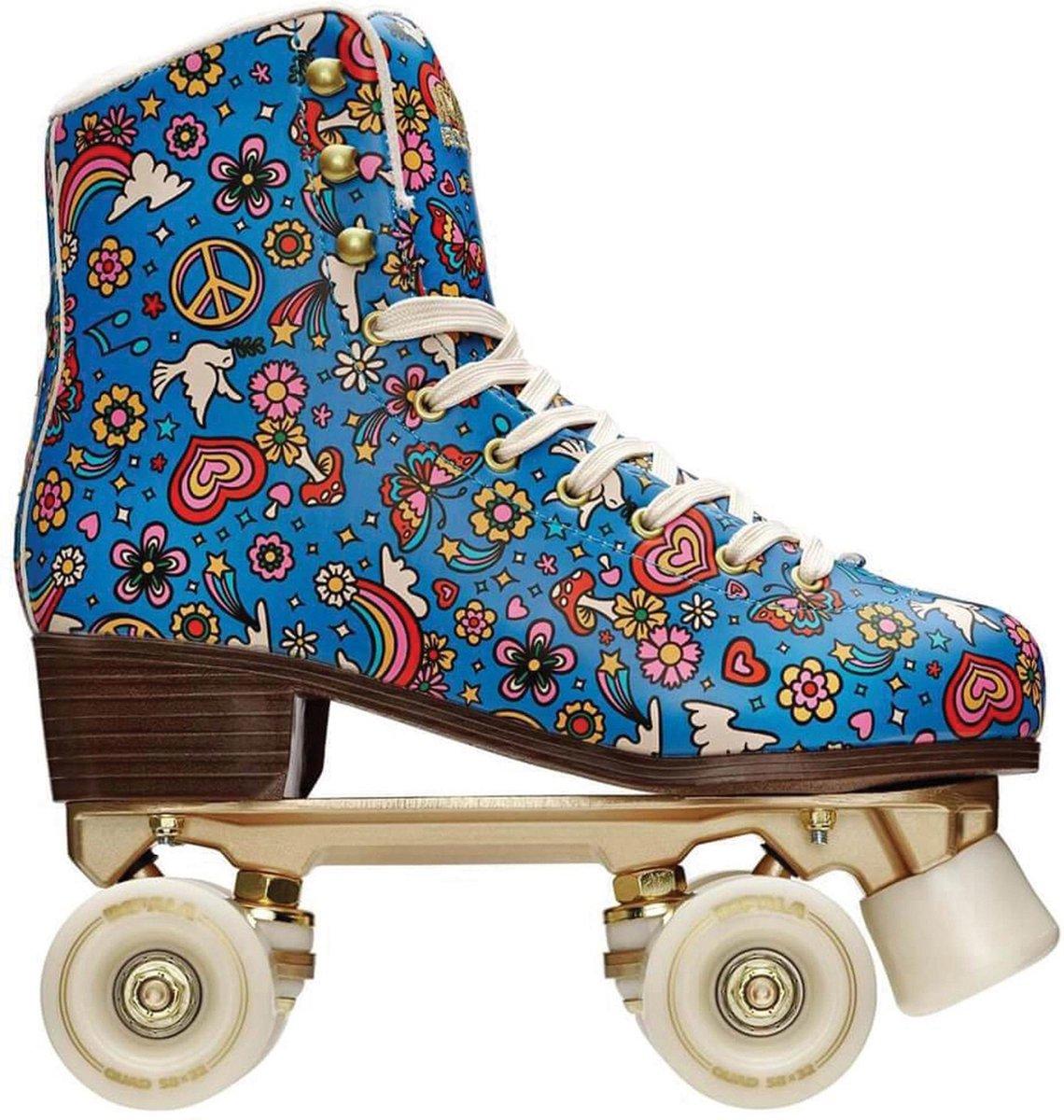 Impala Rolschaatsen - Maat 36Volwassenen - Blauw/Geel/Rood