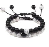 Trendy Afstand Armband   Natuursteen cadeau Koppels  8  Cadeau voor Hem en Haar   Liefde   Stoer Armband