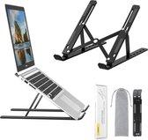 Voomy Office Laptop Standaard - Ergonomisch - Opvouwbaar - Zwart