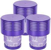 Replacement filter voor Dyson Filter - 3 x Hepa replacement Filter voor Dyson V10 SV12 - Promessa-Design - Multikleur