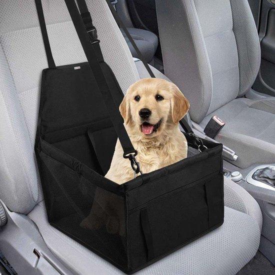 Luxe Honden Autostoel – Opvouwbare Hondenmand – Autostoel Hond - Inclusief Veiligheidsgordel voor je Huisdier - Autobench voor Honden – Hondenmand Auto - Zwart