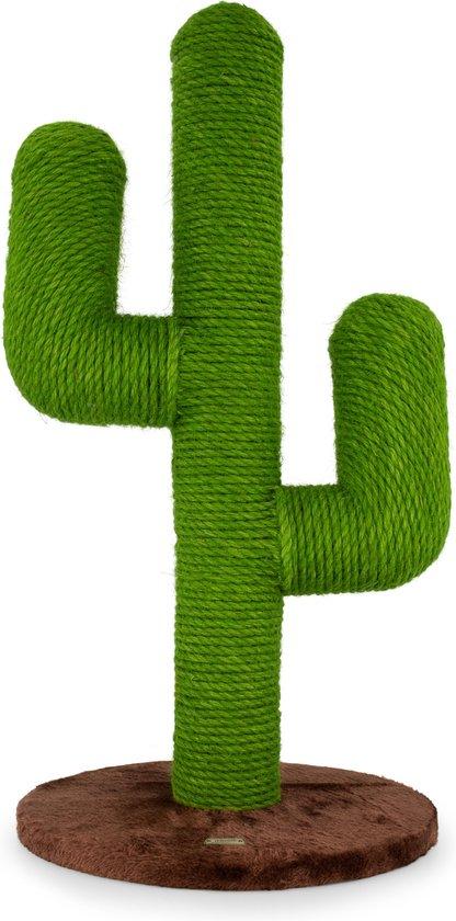 Moowi Krabpaal cactus voor katten – Sisal – Groen en bruin – 70 cm - Size L - Incl. speeltje - Design