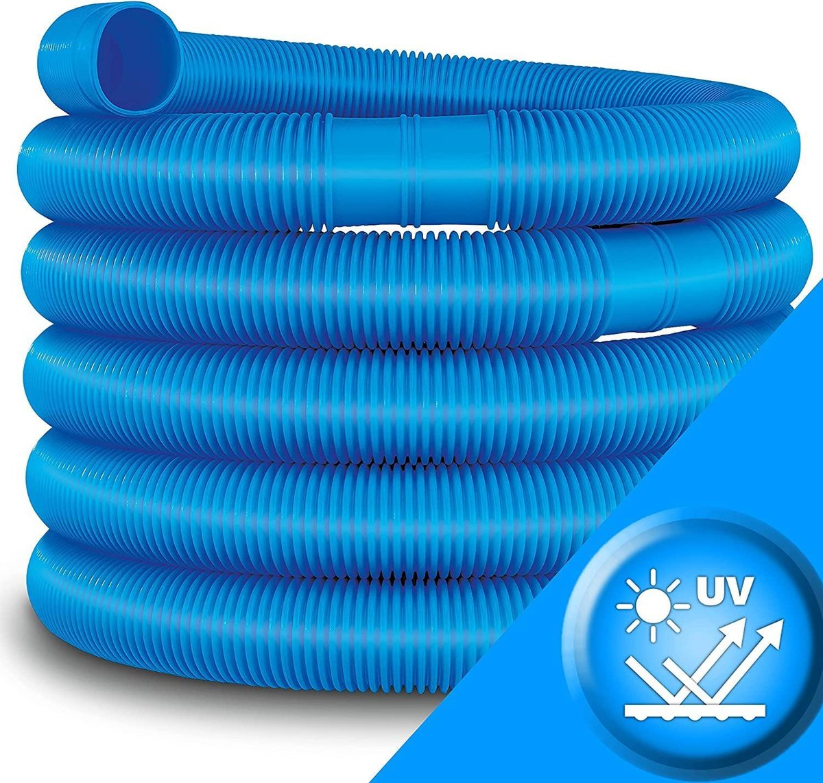 Sens Design zwembadslang 32 mm - 12 meter - blauw