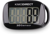 KIMO DIRECT Stappenteller met Clip en Draagkoord - Stappen Tellen - Activity tracker - Pedometer - Groot Scherm - Zwart
