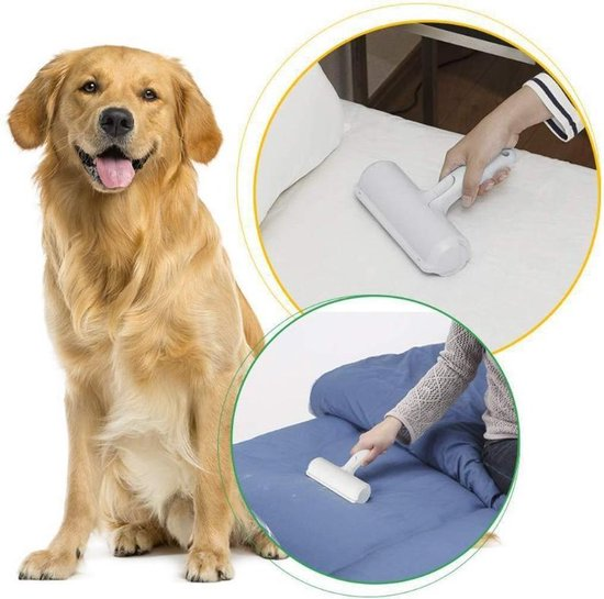 Hoogwaardige Huisdierhaar Verwijderaar - Hondenhaar - Pluizenborstel - Ontharingsborstel - Wit
