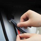 4m B-vorm Auto Decoratief Strip Rubber Chrome Decoratiestrook Deurafdichting Raamafdichting