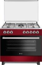 Wiggo WO-E905R(RX) Serie 5 - Gasfornuis - Rood Inox