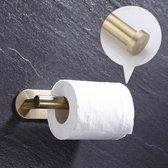 TDR - Toiletrolhouder - RVS - zelfklevend  Geen boren vereist - Goudkleurig
