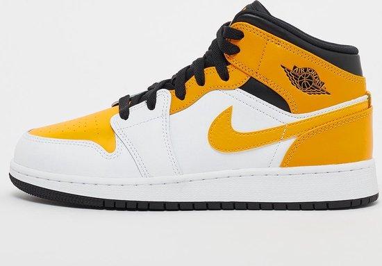 Nike Air Jordan 1 Mid (GS), white university gold/black, EUR 40, 554725 170