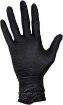 Wegwerp handschoenen - Nitril handschoenen - Poedervrij - zwart - maat S - 100 stuks