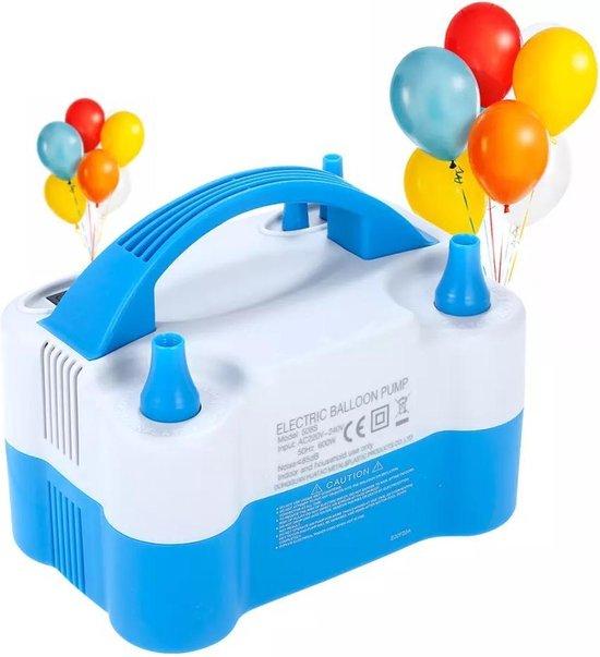 Elektrische Ballonnenpomp - Ballonpomp - Elektrische Ballon Pomp -  Elektrische luchtpomp - 600 W - Dubbele Vultuiten - Ballonnen pomp - Feest - Verjaardag - Versiering - Trouwerij - Snel Ballonnen Opblazen - Ballonnenboog