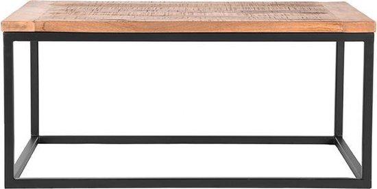 LABEL51 Box Bijzettafel - 100 x 65 x 45 cm - Hout en metaal - LABEL51