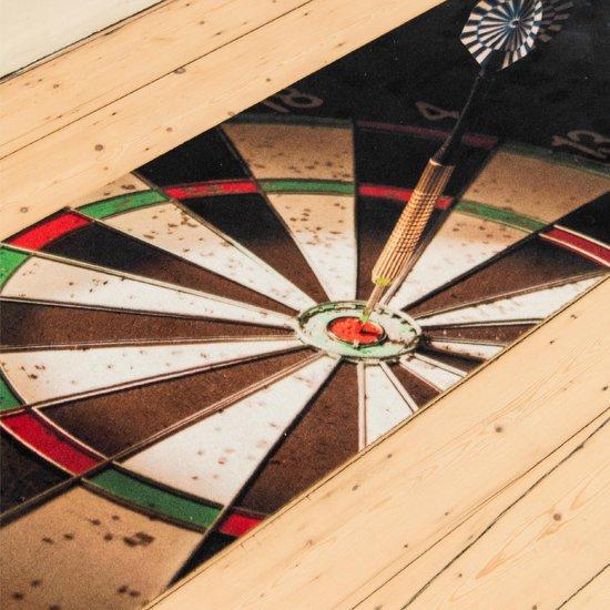 Thumbnail van een extra afbeelding van het spel StudioM - Darts Dartmat Price - 60x300cm - Inclusief Oche