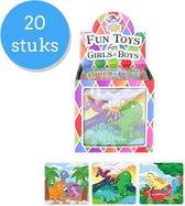 Uitdeelcadeau puzzel Dino's - 20 Stuks - Traktatie - Klein speelgoed - GRATIS Verzending