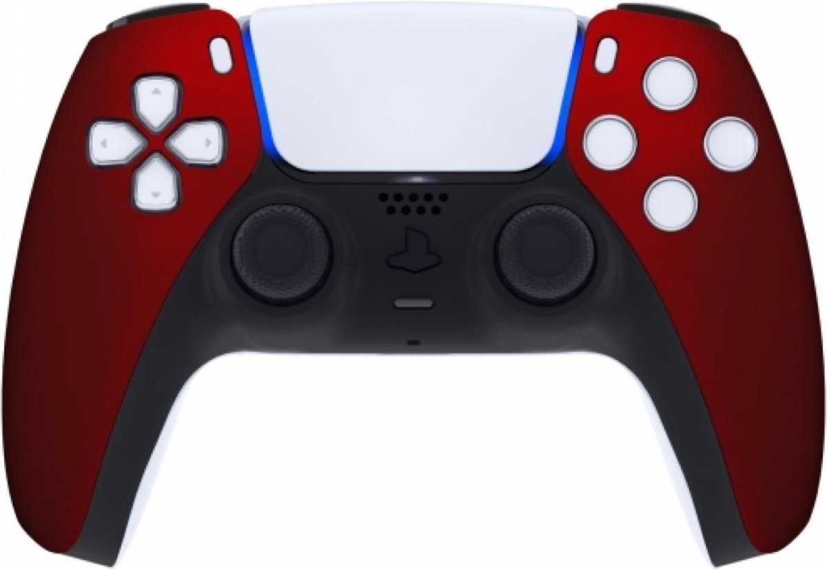 Sony PS5 DualSense Draadloze Controller – Rood Soft Touch Front Custom