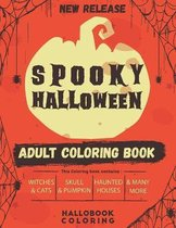 Spooky Halloween Adult Coloring Book
