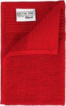 The One Voordeel Gastendoekjes Rood 5 stuks 30x50cm