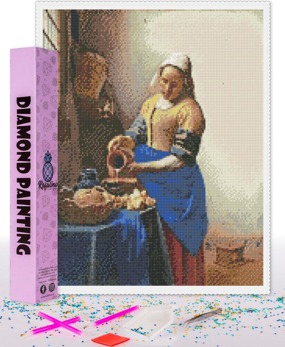 Compleet Full Diamond Painting voor volwassenen en kinderen - Het melkmeisje - 40x50cm volledig pakket met accessoires - Cadeau tip
