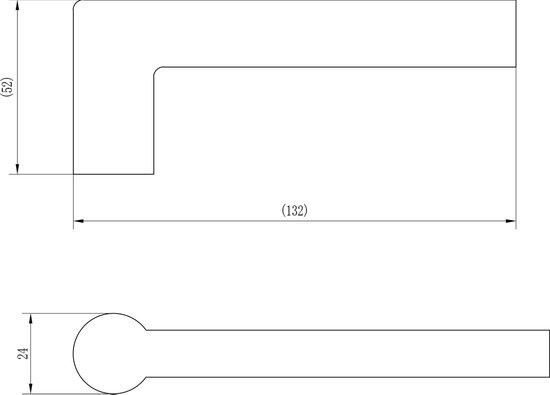 Impresso Redhill Deurklink op schild - Blind - Rechthoekig - Aluminium - Zwart - 1 paar - Impresso