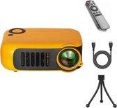 Upgrade | Mini Beamer - Beamer - Mini Projector - Pocket Beamer A2000 - Inclusief HDMI kabel - Draagbaar - Oranje