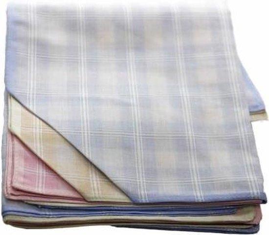 Winkler Dames zakdoeken witte ruitje 12 stuks  - 30  - Blauw