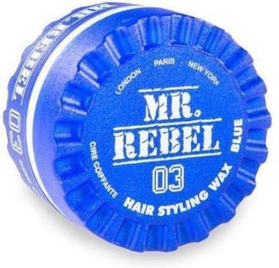 Haar Wax mannen - 2 stuks - Mr. Rebel Haar Wax - Blauw 150ml