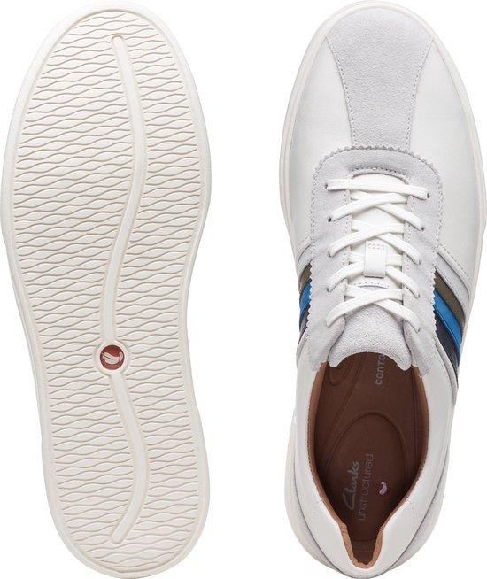 Clarks Un Costa Band Heren Sneakers - White Combi - Maat 40