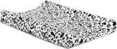 Jollein Leopard Aankleedkussenhoes 50x70cm - Wit/Zwart